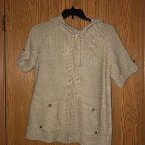 Short Sleeve Sweater Hoodie
